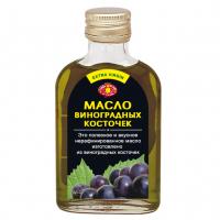 Масло виноградных косточек в плоской бутылке